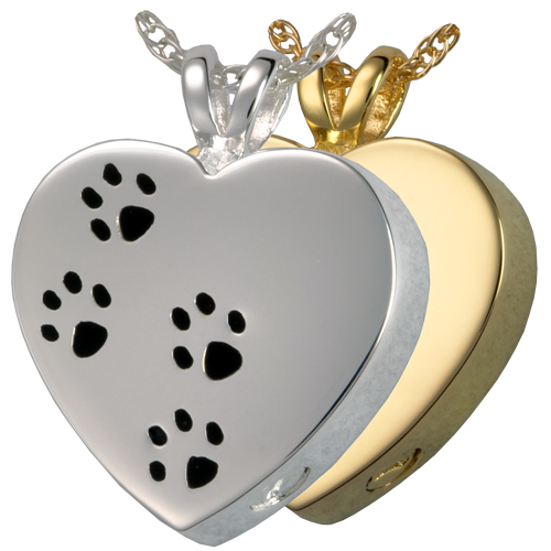 Paw Prints On My Heart Pet Cremation Jewelry-Jewelry-New Memorials-Afterlife Essentials