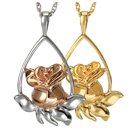 Rose Tear Drop Cremation Jewelry-Jewelry-New Memorials-Afterlife Essentials