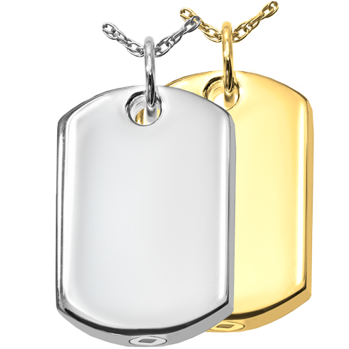 Dog Tag Pet Pendant Cremation Jewelry-Jewelry-New Memorials-Afterlife Essentials
