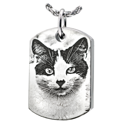 Dog Tag Pet Photo Pendant Cremation Jewelry-Jewelry-New Memorials-Afterlife Essentials