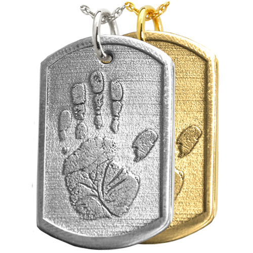 3D Handprint Dog Tag Remembrance Cremation Jewelry-Jewelry-New Memorials-Afterlife Essentials
