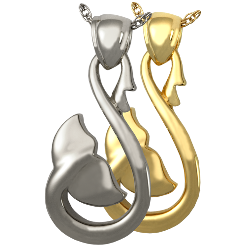 Infinity Whale Tail Pendant Cremation Jewelry-Jewelry-New Memorials-Afterlife Essentials