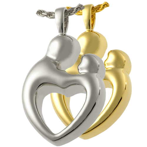 Parental Love Double Compartment Pendant Cremation Jewelry-Jewelry-New Memorials-Afterlife Essentials