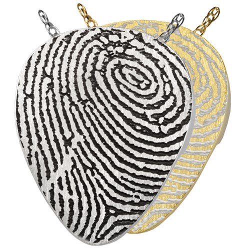 Guitar Pick Fingerprint Pendant Cremation Jewelry-Jewelry-New Memorials-Afterlife Essentials