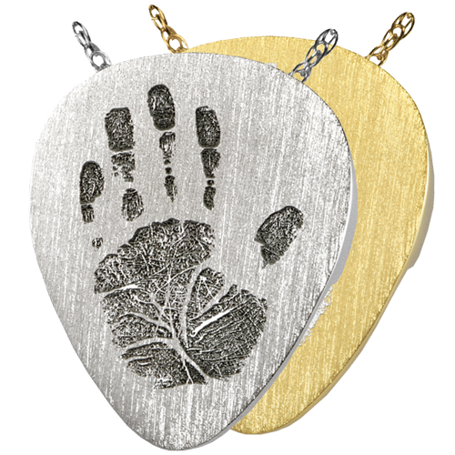 Guitar Pick Handprint Pendant Cremation Jewelry-Jewelry-New Memorials-Afterlife Essentials