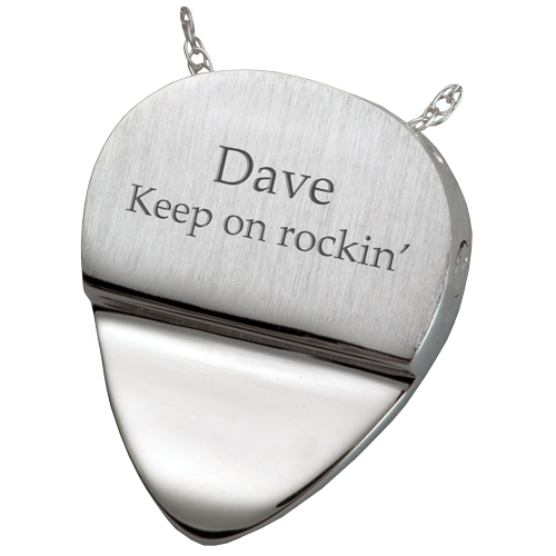 Photo Engraved Guitar Pick Pendant Cremation Jewelry-Jewelry-New Memorials-Afterlife Essentials