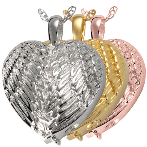 Angel Wing Heart Cremation Jewelry-Jewelry-New Memorials-Afterlife Essentials