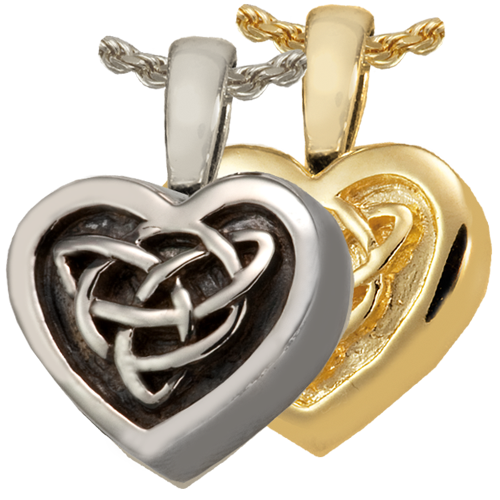 Celtic Heart Cremation Jewelry-Jewelry-New Memorials-Afterlife Essentials