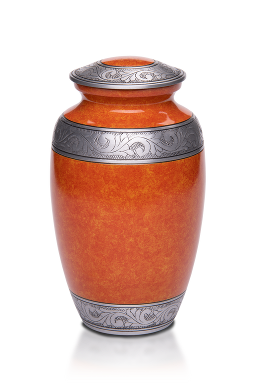 Alloy in Beautiful Rust Orange Adult 200 cu in Cremation Urn-Cremation Urns-Bogati-Afterlife Essentials