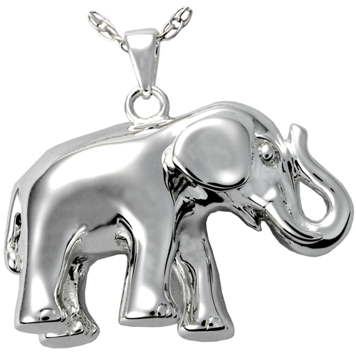 Elephant Never Forgets Cremation Jewelry-Jewelry-New Memorials-925 Sterling Silver-Afterlife Essentials