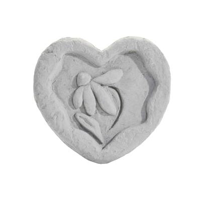 Heart w/flower… Memorial Gift-Memorial Stone-Kay Berry-Afterlife Essentials