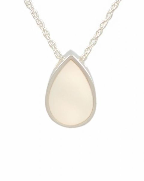 Sterling Silver Mother of Pearl Tear Drop Cremation Jewelry-Jewelry-Cremation Keepsakes-Afterlife Essentials