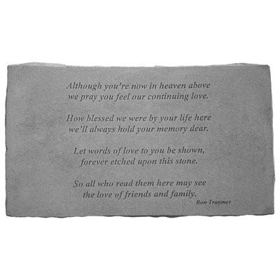 Although you're… Memorial Gift-Memorial Stone-Kay Berry-Afterlife Essentials