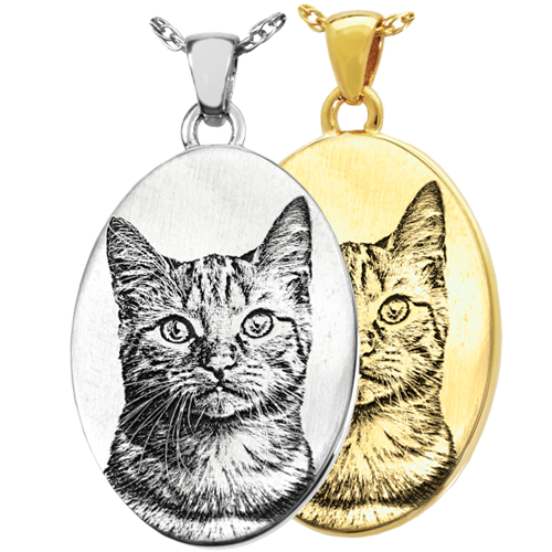 Oval Pet Photo Pendant Cremation Jewelry-Jewelry-New Memorials-Afterlife Essentials