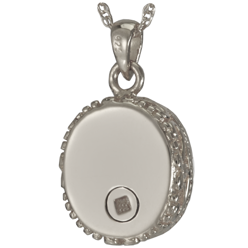 Glass Oval Pendant Cremation Jewelry-Jewelry-New Memorials-Afterlife Essentials