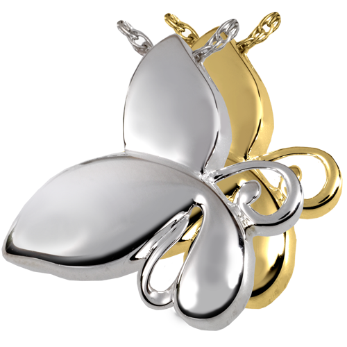 Butterfly Teardrop Pendant Cremation Jewelry-Jewelry-New Memorials-Afterlife Essentials