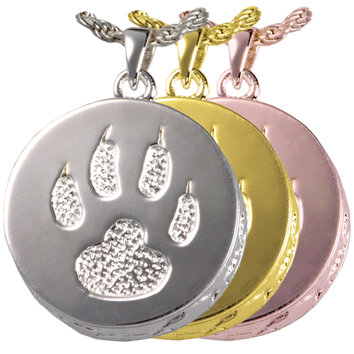 Cat Paw Urn Pendant Pet Cremation Jewelry-Jewelry-New Memorials-Afterlife Essentials