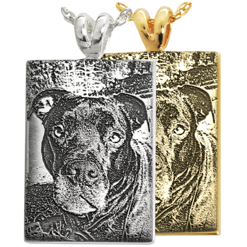 Rectangle 3D Photo Pet Pendant Cremation Jewelry-Jewelry-New Memorials-Afterlife Essentials