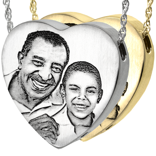 Heart Photo Pendant Cremation Jewelry-Jewelry-New Memorials-Afterlife Essentials