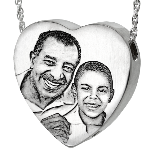 Heart Photo Pendant Cremation Jewelry-Jewelry-New Memorials-925 Sterling Silver-Chamber (for ashes)-Afterlife Essentials