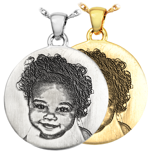 Round 3D Photo Pendant Cremation Jewelry-Jewelry-New Memorials-Afterlife Essentials