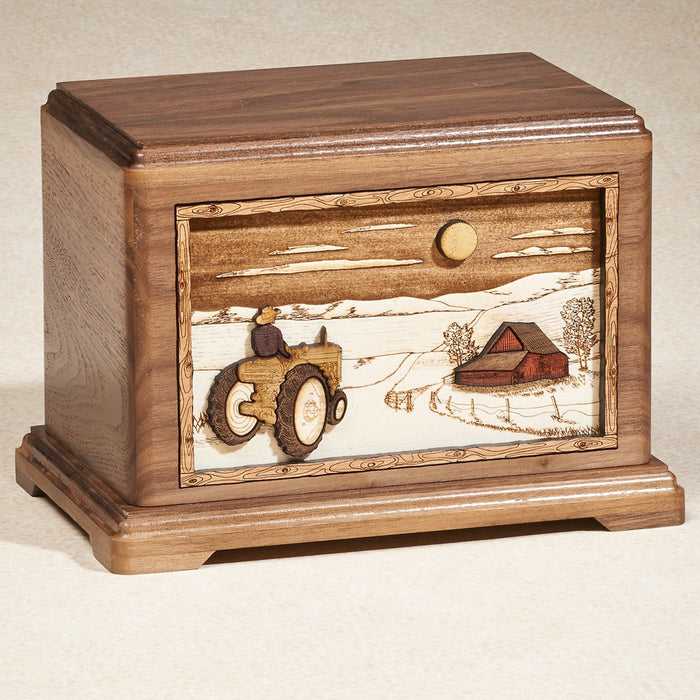 Heading Home Oak Wood Adult 200 cu in Cremation Urn-Cremation Urns-Infinity Urns-Afterlife Essentials