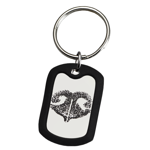 Large Stainless Steel Dog Tag Noseprint Pet Print KeyChain-Jewelry-New Memorials-Afterlife Essentials