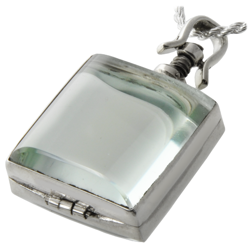 Glass Square Victorian Locket (Not For Ashes) Cremation Jewelry-Jewelry-New Memorials-Afterlife Essentials