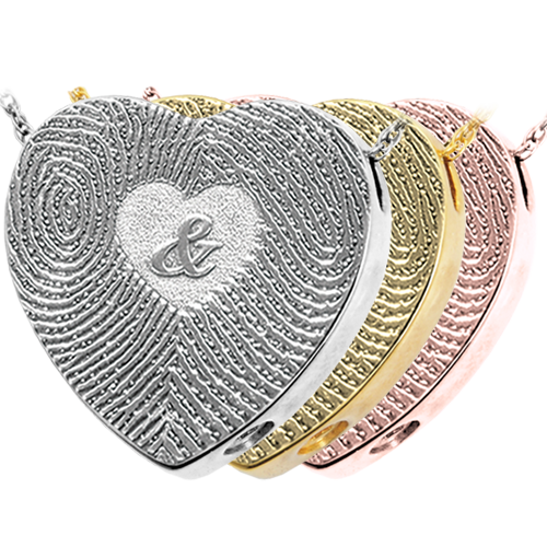 3D Duo Fingerprints Ampersand Memento Cremation Jewelry-Jewelry-New Memorials-Afterlife Essentials