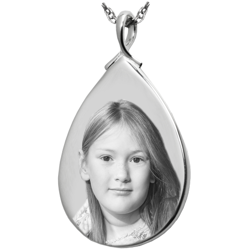 Teardrop Photo Pendant Cremation Jewelry-Jewelry-New Memorials-Afterlife Essentials
