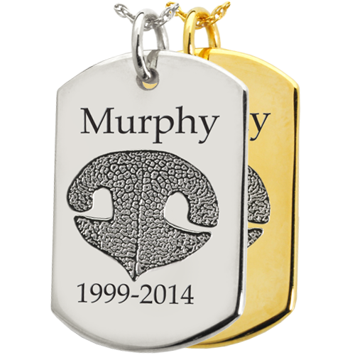 B&B Dog Tag Actual Noseprint Cremation Jewelry-Jewelry-New Memorials-Afterlife Essentials