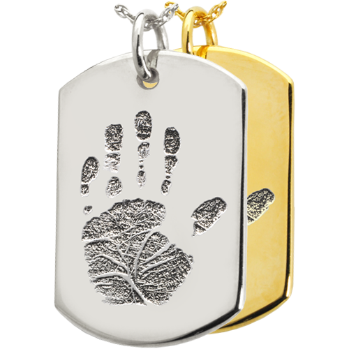 Dog Tag Handprint Cremation Jewelry-Jewelry-New Memorials-Afterlife Essentials