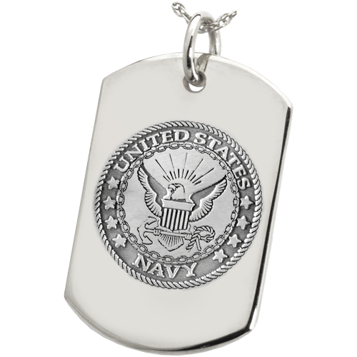 Military Emblem Dog Tag Pendant Cremation Jewelry-Jewelry-New Memorials-Afterlife Essentials