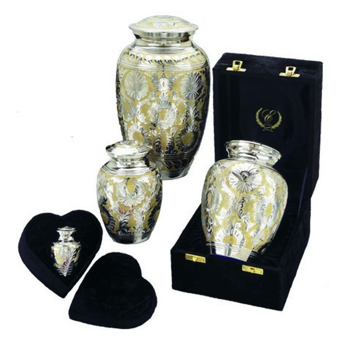 "509/6"" Silver Gold Cremation Urn-Cremation Urns-Urns of Distinction-Afterlife Essentials"