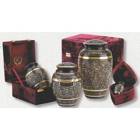 "515/7"" ""Gee Motif"" Solid Brass Cremation Urn-Cremation Urns-Urns of Distinction-Afterlife Essentials"