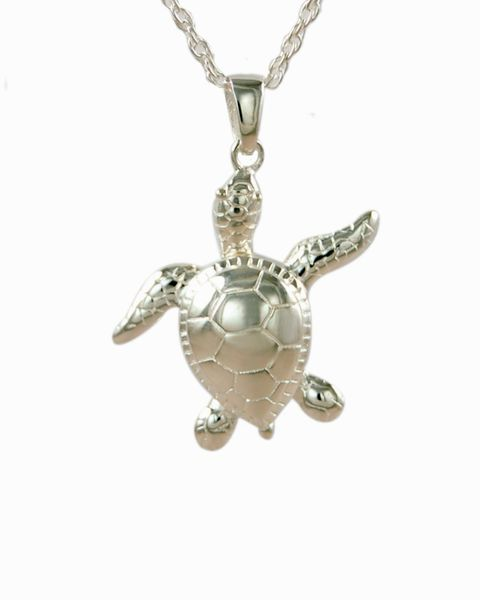 Sterling Silver Turtle Cremation Jewelry-Jewelry-Cremation Keepsakes-Afterlife Essentials