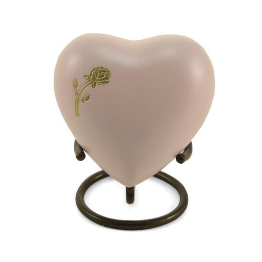 Aria Rose Heart Keepsake with velvet box Cremation Urn-Cremation Urns-Terrybear-Afterlife Essentials