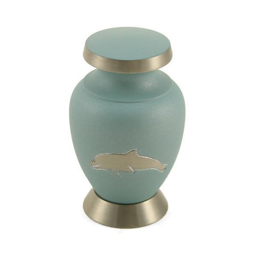 Aria Dolphin Individual Keepsake with velvet bag Cremation Urn-Cremation Urns-Terrybear-Afterlife Essentials