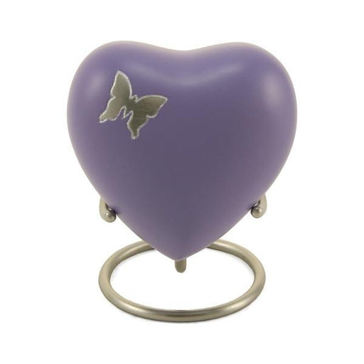 Aria Butterfly Heart Keepsake with velvet box Cremation Urn-Cremation Urns-Terrybear-Afterlife Essentials