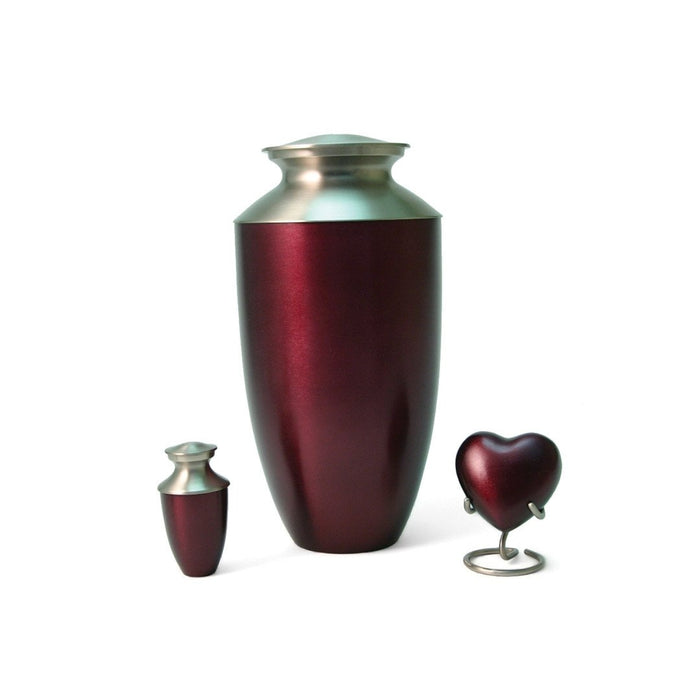 Monterey Ruby Heart Keepsake with velvet box Cremation Urn-Cremation Urns-Terrybear-Afterlife Essentials