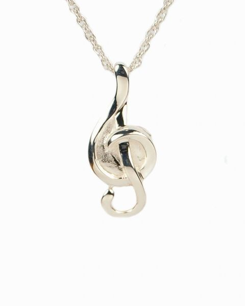 Sterling Silver Slider Music Note Cremation Jewelry-Jewelry-Cremation Keepsakes-Afterlife Essentials
