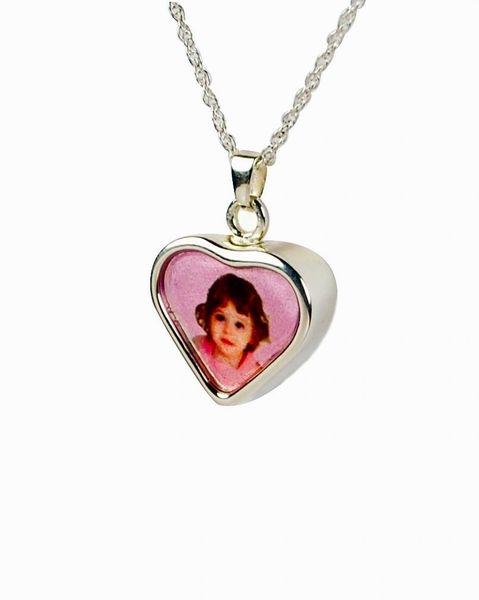 Sterling Silver Heart Photo Pendant Cremation Jewelry-Jewelry-Cremation Keepsakes-Afterlife Essentials