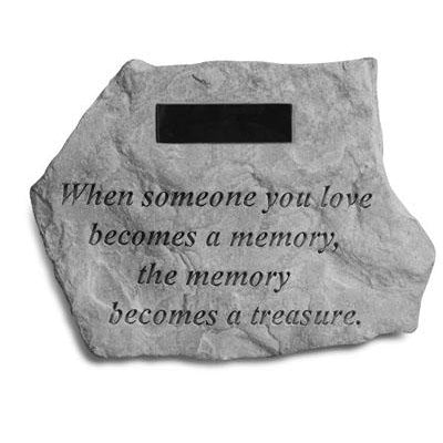 When someone you love… Memorial Gift-Memorial Stone-Kay Berry-Afterlife Essentials