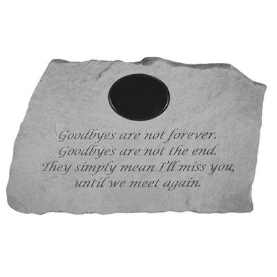 Goodbyes are not forever… Memorial Gift-Memorial Stone-Kay Berry-Afterlife Essentials