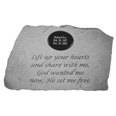 Lift up your hearts… Memorial Gift-Memorial Stone-Kay Berry-Afterlife Essentials