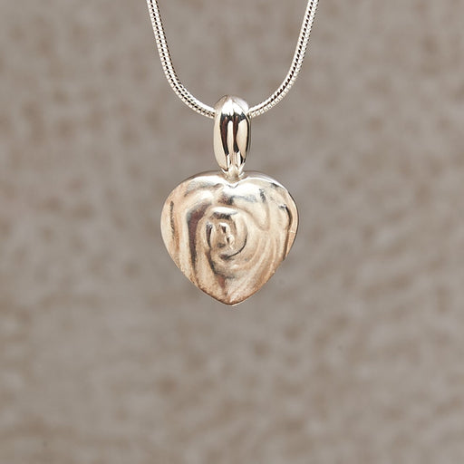 Small Full Rose Locket Keepsake Pendant Cremation Jewelry