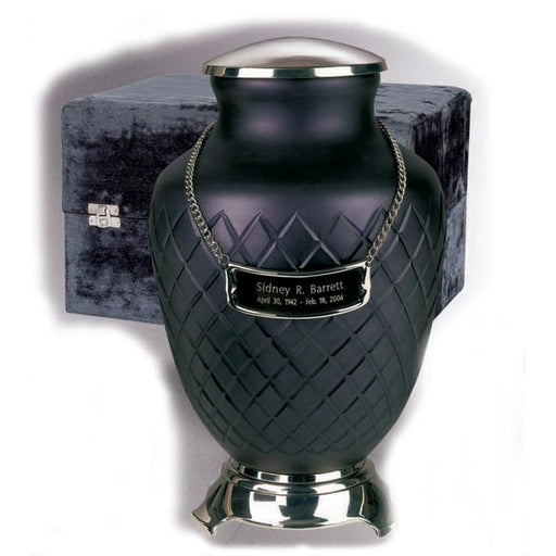 "6000/10"" Baroque Art Glass Hand Cut Cremation Urn - Adult/Large-Cremation Urns-Urns of Distinction-Afterlife Essentials"