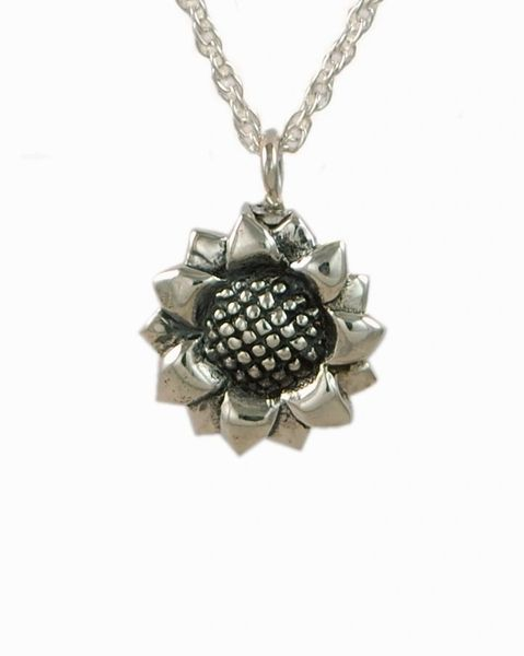 Sterling Silver Sunflower Cremation Jewelry-Jewelry-Cremation Keepsakes-Afterlife Essentials