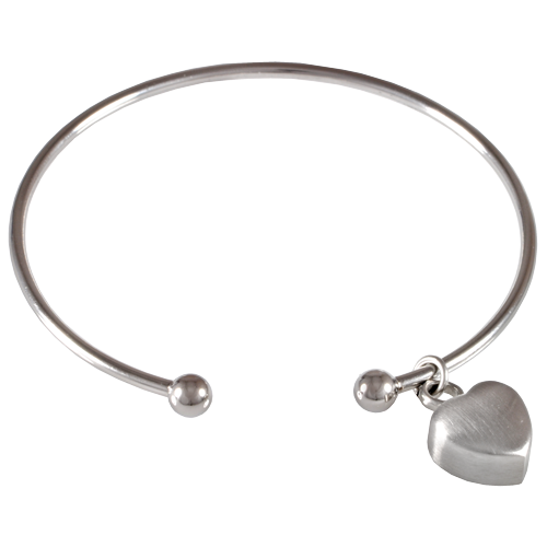 Stainless Steel Cuff Bracelet With Heart Cremation Jewelry-Jewelry-New Memorials-Afterlife Essentials