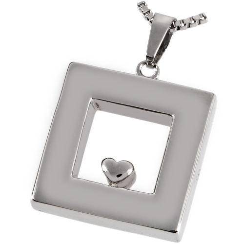 Premium Stainless Steel Heart Of Center Cremation Jewelry - Afterlife Essentials